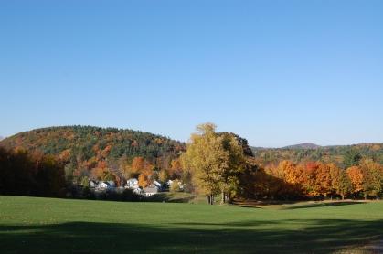 New England fall foliage Ashfiled Mass