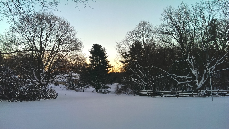 Sunset after Snow Storm