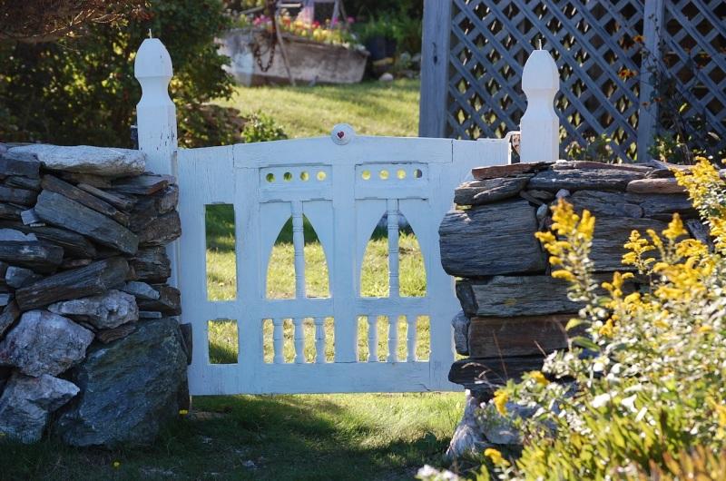 Weather-worn gate