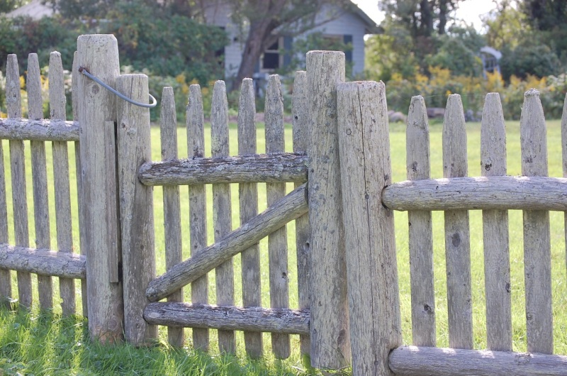 weathered gate