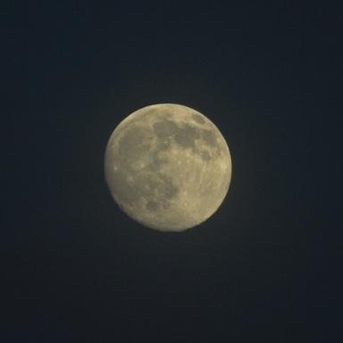 Moon photo taken July 10 2014 8:30 p.m. - nearly supermoon